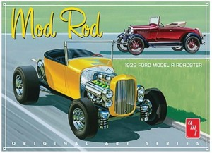 Model plastikowy - Samochód 1929 Ford Model A Roadster (OAS) Mod Rod - AMT
