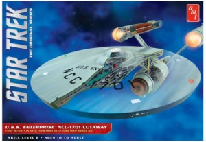 Model plastikowy - Star Trek TOS Enterprise Cutaway 1:537 - AMT